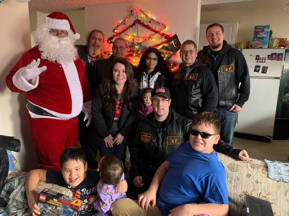 212 Chapter 1 in Calgary Joins Santa in Spreading Holiday